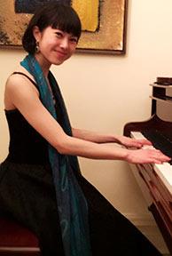 Yuko playing the piano