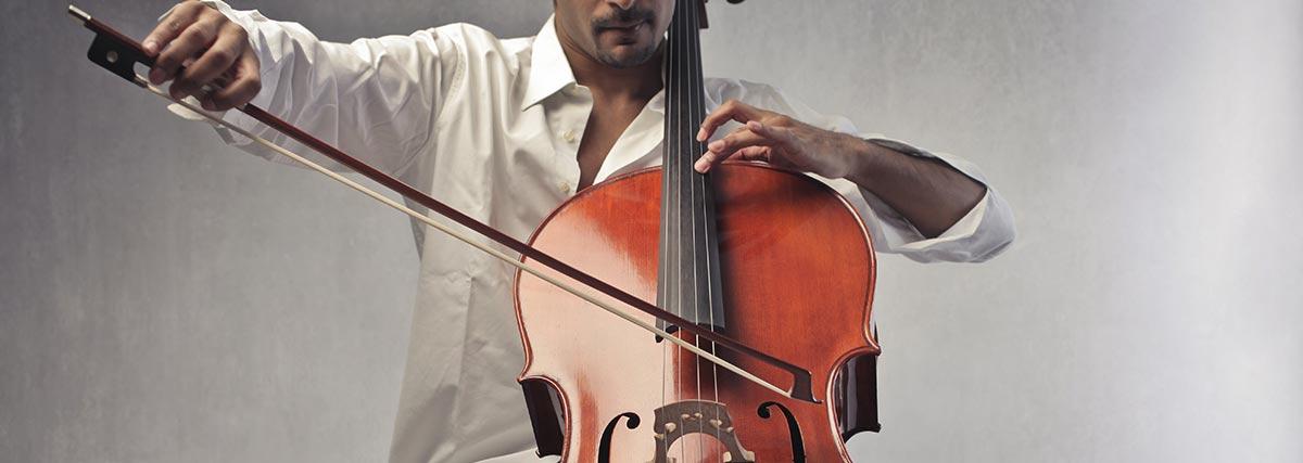 man-practising-the-cello