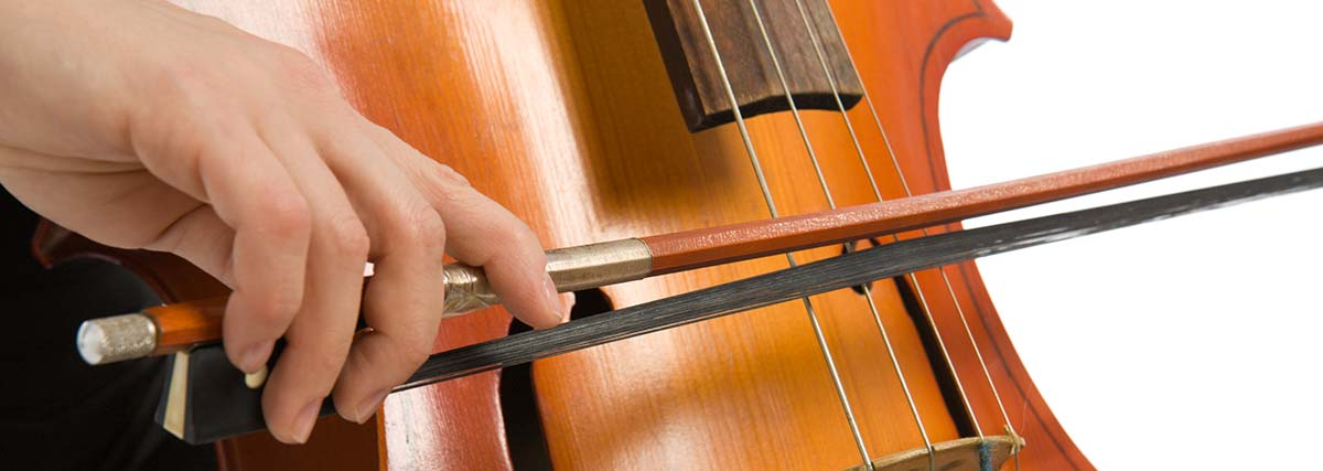 hand bowing on cello